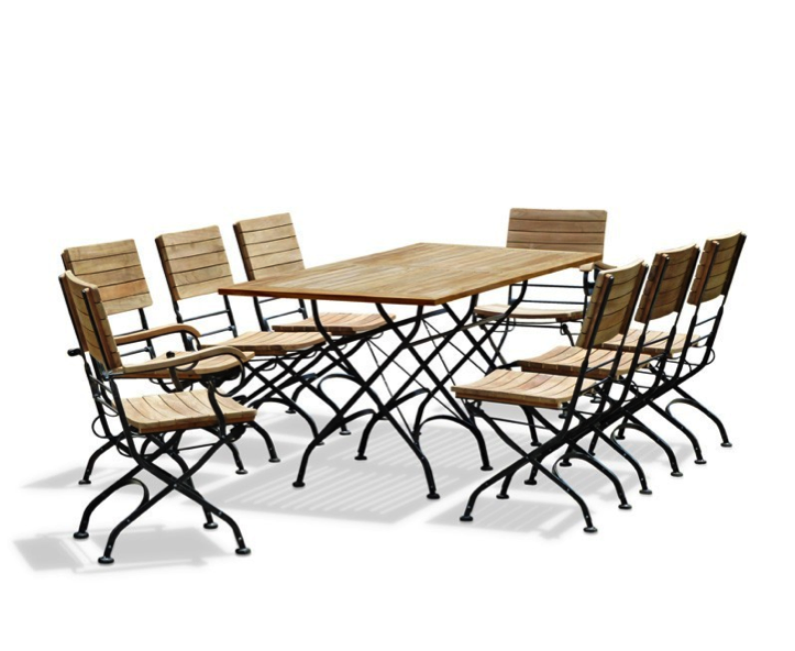 Rectangular Teak Bistro Dining Set With 8 Chairs Part 98