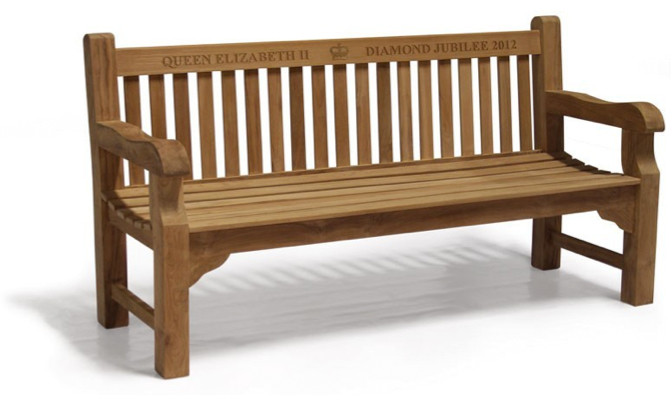 Balmoral 6ft Queens Diamond Jubilee Commemorative Bench