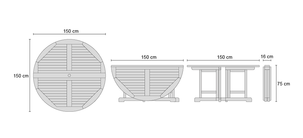 drop leaf garden table
