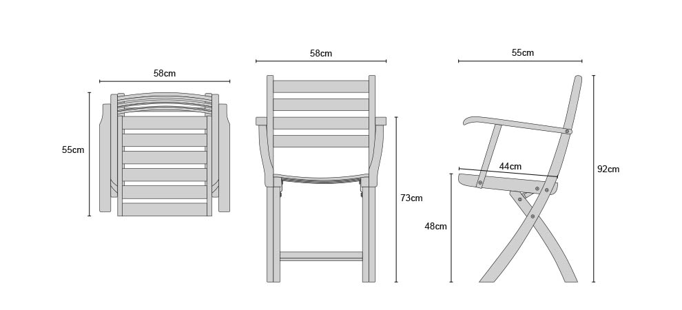 Suffolk Chairs - Dimensions
