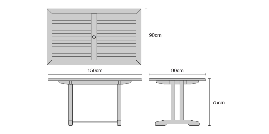 teak pedestal table