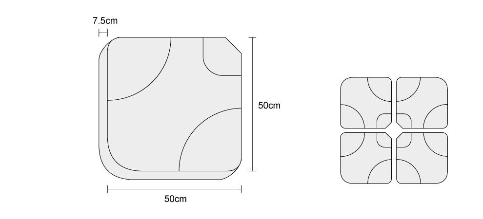 Fillable Cantilever Parasol Base - Dimensions
