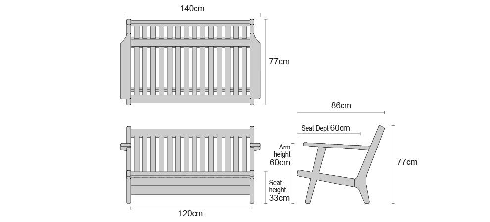 deep seating garden sofa