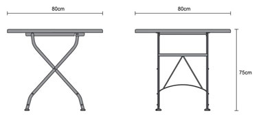 Bistro Folding Table - 80cm | Teak Wood
