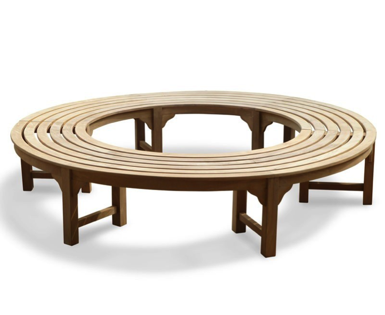 backless circular tree bench