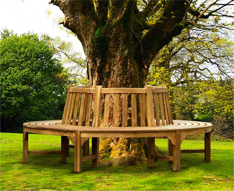 Teak Full Circle Luxury Tree Bench