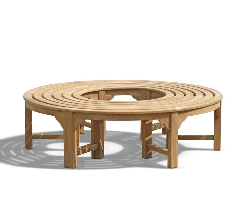 teak circular tree bench
