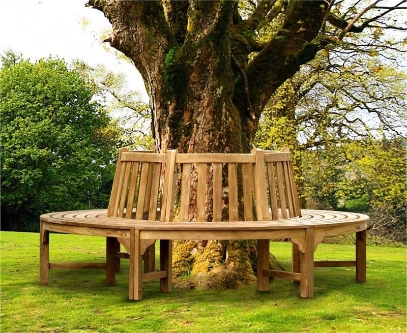 Teak circular tree seat