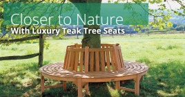 Closer to Nature With Luxury Teak Tree Seats