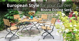 Bring European Style to Your Garden With a Luxurious Bistro Set
