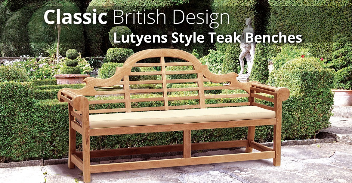 Teak Lutyens-Style Bench - For a Touch of Classic British Design